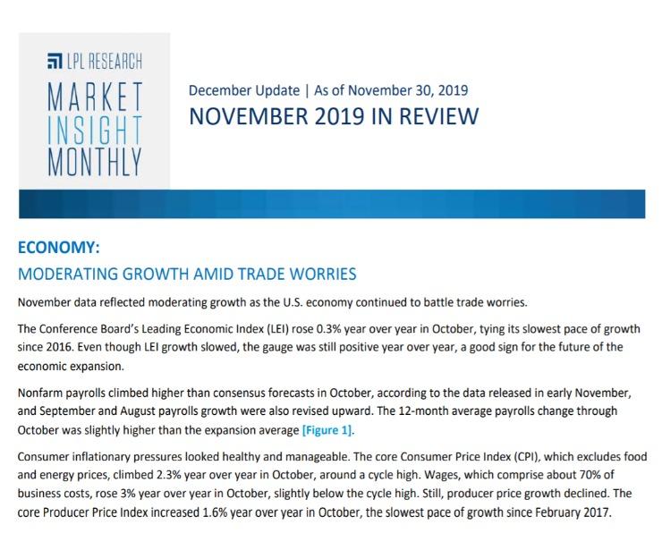 Market Insight Monthly | November 2019