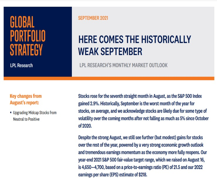 Global Portfolio Strategy   September 9, 2021